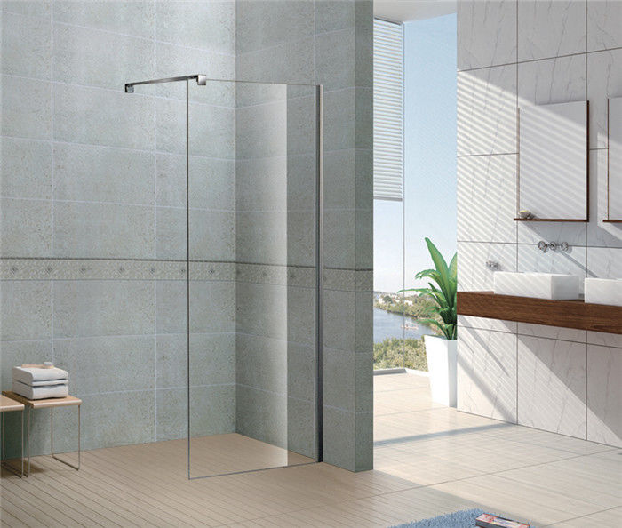 Installed Easily Walk In Glass Shower Enclosures 8 MM Tempered Glass with Chromed Profile